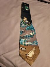 A Rogers Designer Tie Silk house Polyester Fishing