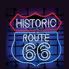 """New Historic Route 66 Beer Pub Bar Neon Sign 19""""X17"""" PU42L Ship From USA"""
