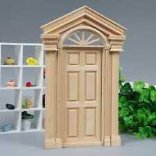 Fairy Garden Wooden 6-panel External Door for 1/12 Miniature Dolls House Fashion