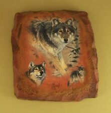 Guardians of the Earth Silent Encounter Wolf Plate Al Agnew #7 Plaque Mib + Coa