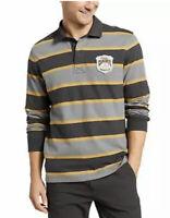 Eddie Bauer Men's Rugby Shirt Carbon Sz L