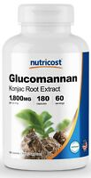 Nutricost Glucomannan 1,800mg Per Serving - 180 Capsules