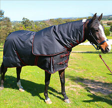 Detach A Neck Horse Rug Waterproof Turnout Blanket 300G Heavy Fill Clearance Sto