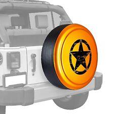 Oscar Mike Star - Painted  Tire Cover - Jeep Wrangler - Mango Tango