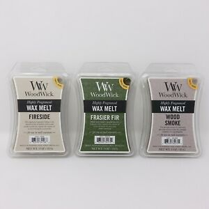 WoodWick Wax Melt 3 oz. Highly Fragranced - Variety Pack Qty 3 - Choose Scent
