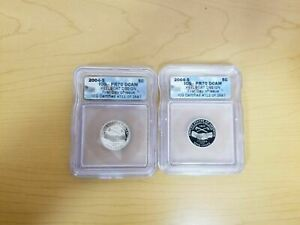 Lot of 2 - 2004 S 5C KeelBoat Jefferson Nickel ICG PR70DCAM - First Day of Issue