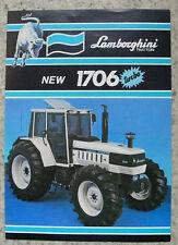 LAMBORGHINI 1706 TURBO Tractor Sales Spec Leaflet Jan 1986 #COD 308 2045 3.2