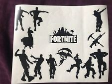 X13 Fortnite  Vinyl Stickers Car Vehicle Window Decal Cards Silhouette Console