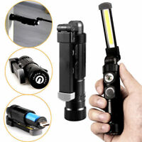 COB LED Rechargeable Flexible Inspection Hand Lamp Torch Work Light Magnetic UK