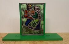 Stained Glass All Hand-Painted  - Robin Hood - Free Standing Base