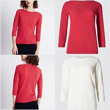 Marks and Spencer Women's 3/4 Sleeve Hip Length Jumpers & Cardigans