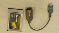 Xircom PCMCIA CreditCard Ethernet IIps LAN PC Card with Dongle Cable