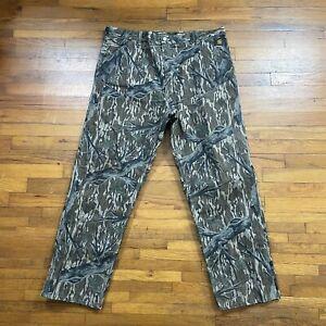 Vintage Carhartt Mossy Oak Treestand Camo Canvas Pants Men's Sz 42 X 32 USA