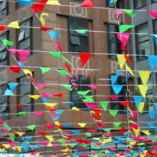 Mixcolor 80M Triangle Flags Bunting Banner Pennant Festival Wedding Party Decor