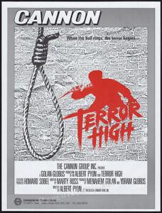 TERROR HIGH__Original 1985 Trade AD / poster__Albert Pyun_unproduced horror film