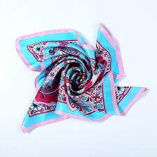 Small Square Silk Scarf Pink Theme Horse Print XFJ057