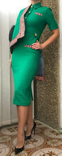 Gucci Limited Edition Collared Tweed Green Dress Jacket It 38 Uk 8-10