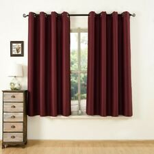 Blackout Room Darkening Thermal Curtain for Living room with Two FREE Tiebacks