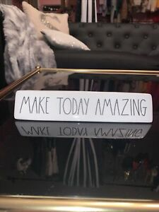 "RAE DUNN artisan collection desk decor ""make today amazing"""