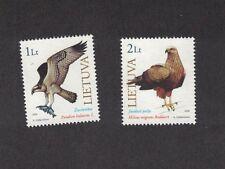 Lithuania 669 - 670 - Birds Of Prey. Set Of 2.   MNH OG.   #02 LITH669