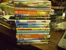 (26) Childrens Animal DVD Lot: Disney Lion King  Kung Fu Panda  Madagascar Rango