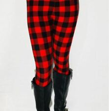 Extra Plus SIZE Red Fall Winter Buffalo Red Black Leggings Fits Sizes 16-22 NWT