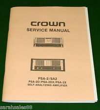 Service Manual for Crown PSA-2, 2D, 2X, SA-2 Amp: Schematics, Layouts, Wiring