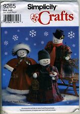 Snowman Couple w Clothes - Holiday Sewing Pattern