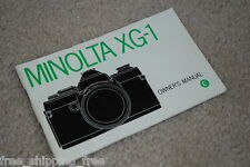 Minolta Xg-1 Original Instruction Book Free S/H