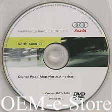 2008 2009 Audi TT R8 Roadster Quattro RNS-E Navigation DVD Map U.S Canada