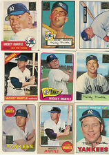 1996 TOPPS MICKEY MANTLE COMMEMORATIVE INSERT SET 1-19 NEW YORK YANKEES