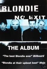 "Blondie ""No Exit"" U.K. Promo Music Poster -Debbie Harry"