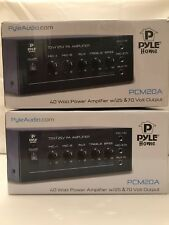 Lot Of 2 Pyle Home PCM20A 40 Watt Power Amplifier w/25 & 70 Volt Output NIB