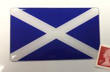 Scottish Saltire Flag Sticker Super Shiny Domed Finish 100mm Scotland