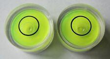 2x 18mm Disk Circular Bulls Eye Round Bubble Spirit Level Tripod Cameras RV U&S