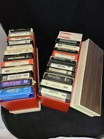 LOT OF 24 8 TRACK TAPES RARE TILTLES SEE Pictures & STORAGE CASES
