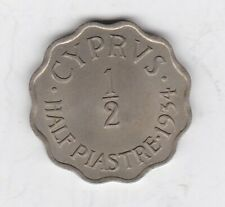 More details for 1934 cyprus george v half piastre in near mint condition