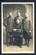 Carte Postale Photo MILITAIRES SOLDATS en Uniforme du 7 et 2ème Régiment