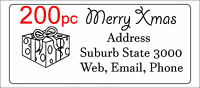 200 Personalised return address label adhesive custom sticker 56x25mm