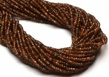 """Natural Gemstone Spanish Andalusite 3.5MM Micro Faceted Rondelle Beads 13""""Strand"""
