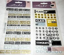 GRADUATION Stickers by Sticko - Lot of 2 Packs - CLASS OF' & GRADUATION