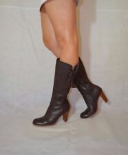 Women Brown Knee High Boots Real Leather Comfy Elegant Roberto Vianni Size 6