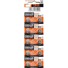 10 Maxell LR44 A76 1.5V Coin Cell Button Batteries
