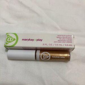 Eyeliner Mary Kay At Play GOLD METAL Bold Fluid Eyeliner Makeup NEW New Metaluc