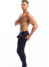 N2N Bodywear Lounge Sport Tights Men's Long Underwear (S, Navy)