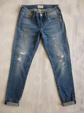 Pepe London LOLA Super-SKINNY 7/8 mid Jeans Hose used aged Gr XS 34 W26/L28 Neu
