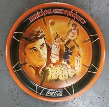 Vintage 1976 NCAA Champions Indiana University Coca-Cola Tin Tray Bobby Knight