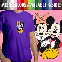 Disneyland Minnie Mickey Mouse Disney Couple Love Unisex Tee Crew Neck T-Shirt