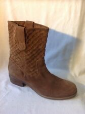 Next Brown Ankle Suede Boots Size 6