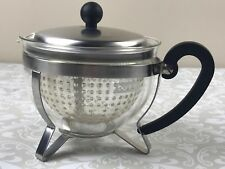 Bodum Chambord Tea Pot 8 Cups Black Loose Tea Maximum Flavor Glass